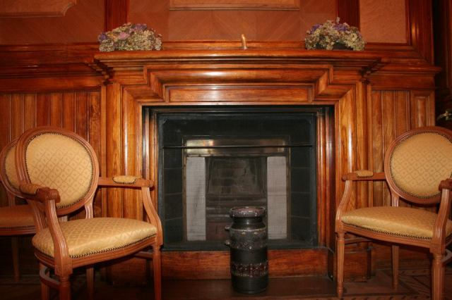 A fireplace in the Romanov Palace