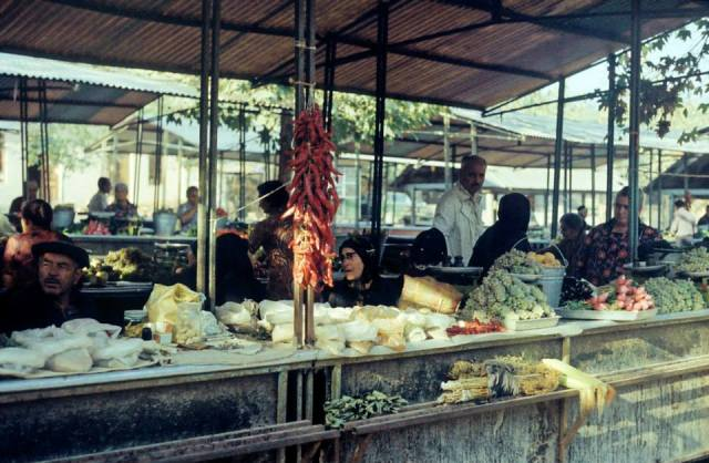 A Georgian market in the 1970's. Photo taken in 1977 by Erhard K