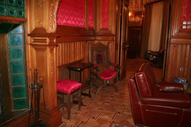 A wood panelled room in the Romanov Palace