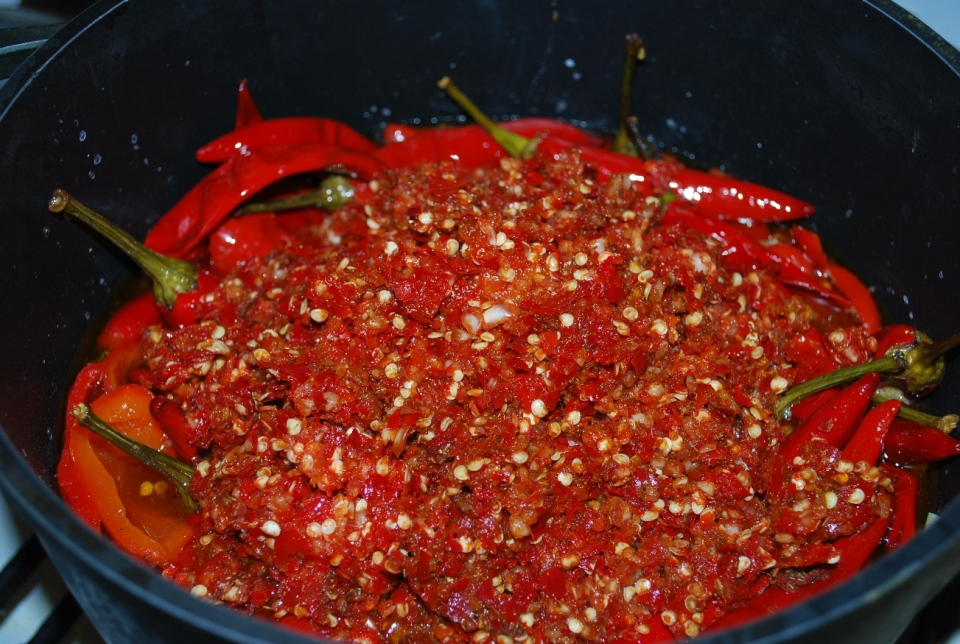 Adding ground peppers - Copy