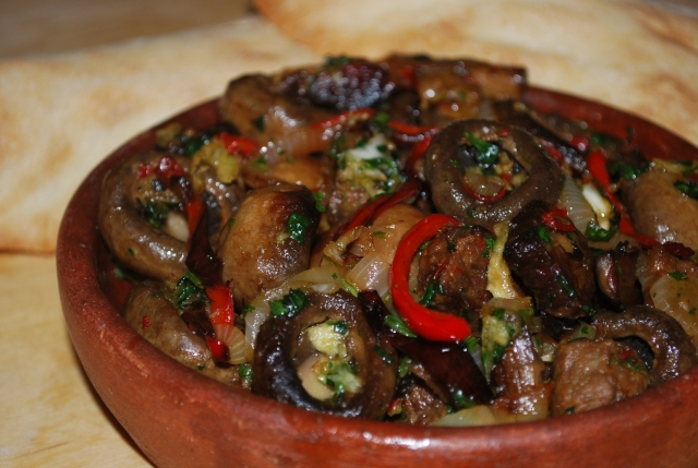 Beef with Mushrooms ready for Serving