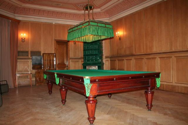 Billiard room in the Romanov Palace