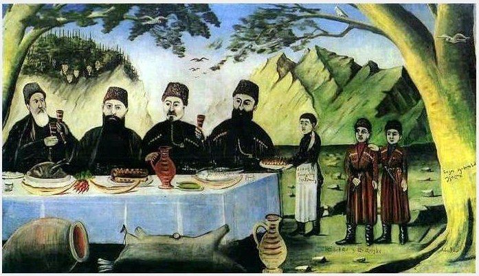 'Feast at Gvimradze' by Georgian artist Niko Pirosmani