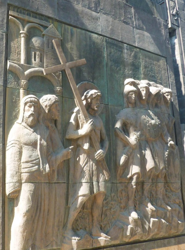 Depictions of the life of Christ on the History of Georgia Monument