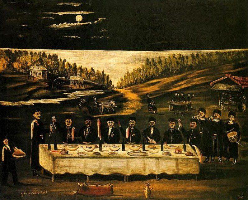 'Krtsanisi' by Georgian artist Niko Pirosmani