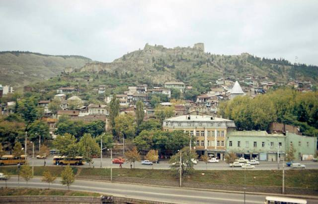 Narikala Castle and the Old Town in Tbilisi. Photo taken in 1977 by Erhard K
