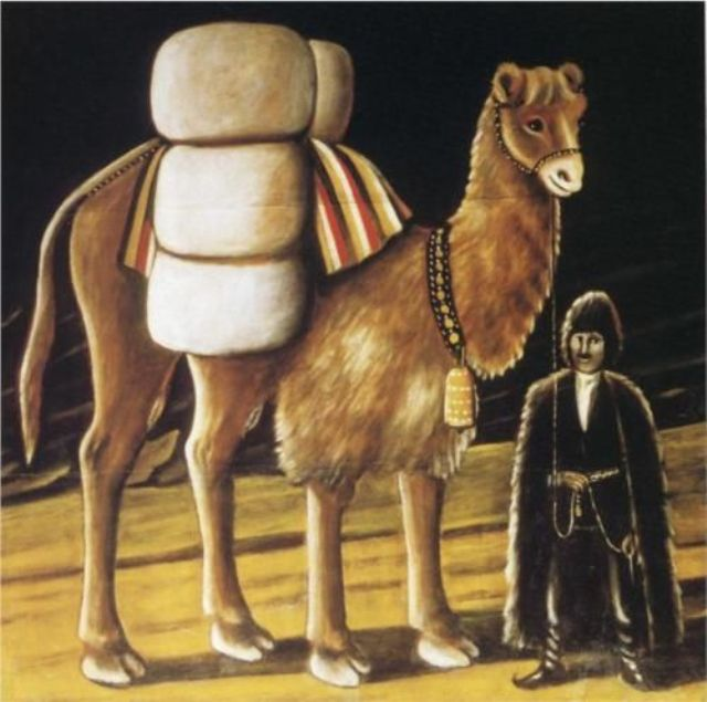 Painting of a camel by the Georgian artist Niko Pirosmani