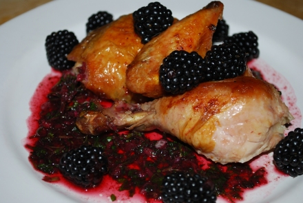 Rachuli Chicken with Blackberry Sauce - Copy