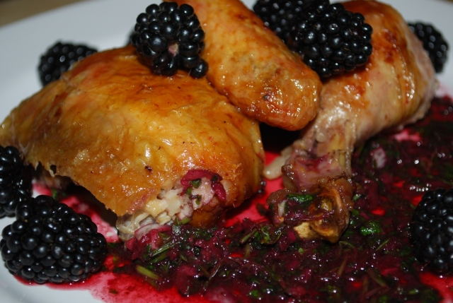 Rachuli Chicken with Blackberry Sauce ready for Serving - Copy