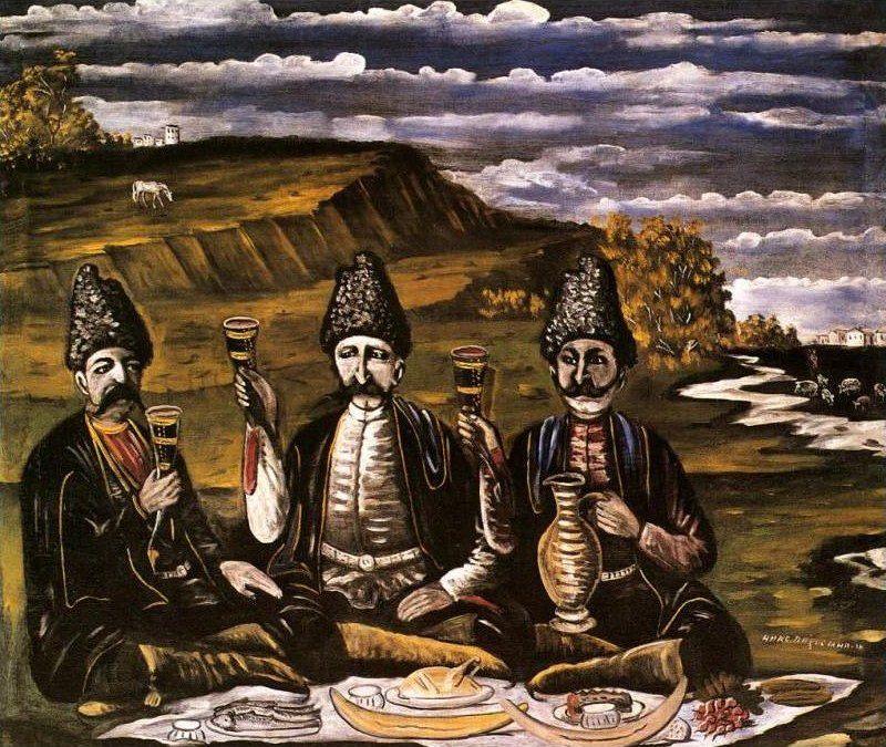 'Razzle-dazzle of three princes' by Georgian artist Niko Pirosmani