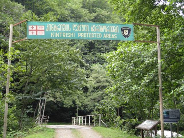 The entrance to Kintrishi Protected Areas