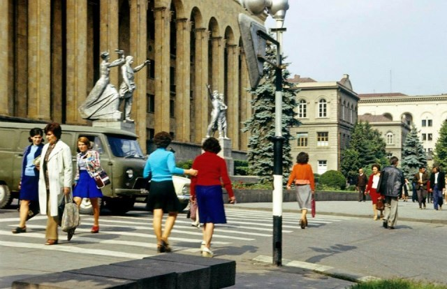 The Parliament building in Tbilisi. Photo taken in 1977 by Erhard K