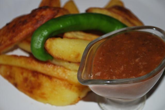 Tkemali Sauce ready for serving - Copy