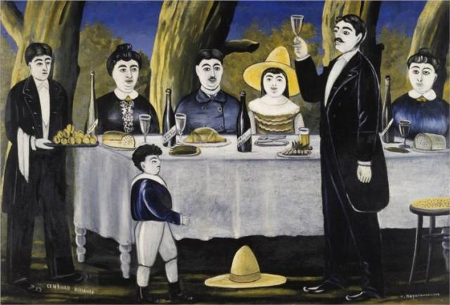 'Family Feast' by Georgian artist Niko Pirosmani, 1907.