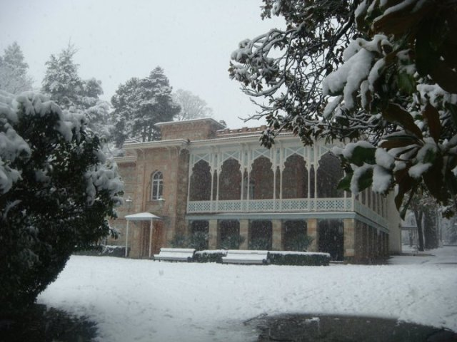 Tsinandali Palace Museum in Winter