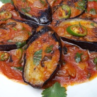 About Food - Eggplant with Herbs and Tomatoes