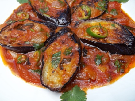 Eggplant with Herbs and Tomatoes