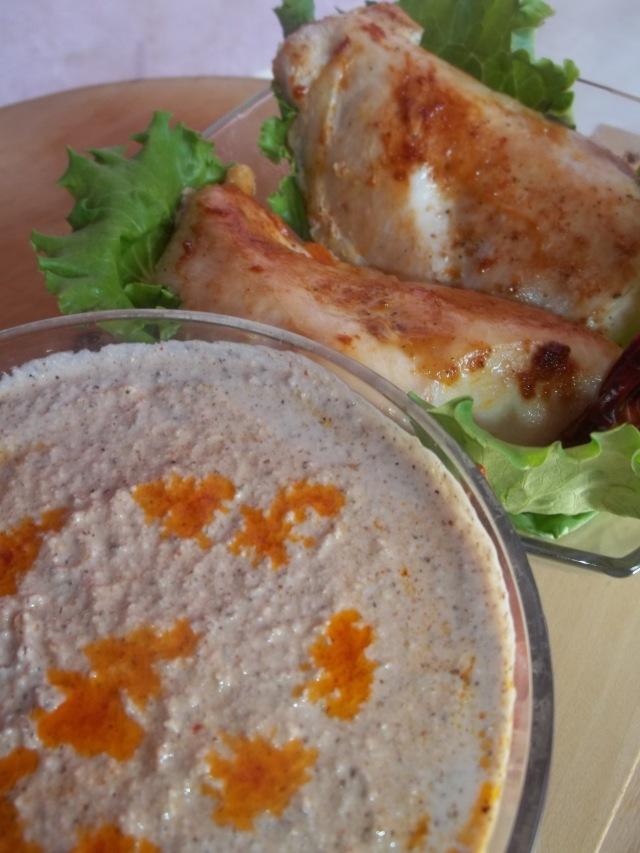 Arashykh Syzbal served with Chicken_3