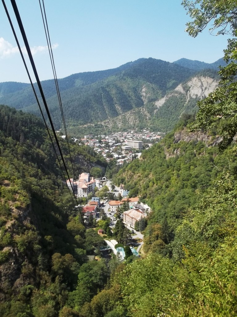 View of Borjomi town from the aerial tramway