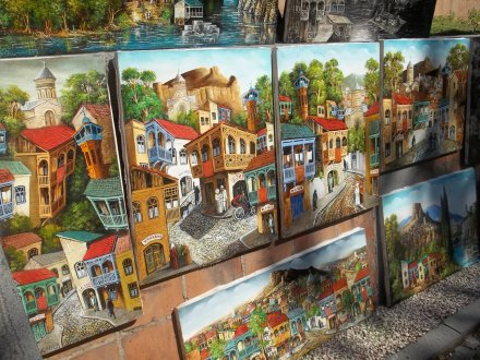 The Dry Bridge Art Market in Tbilisi