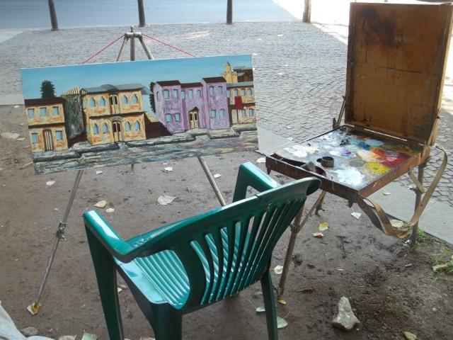 Open air studio at the Dry Bridge Art Market