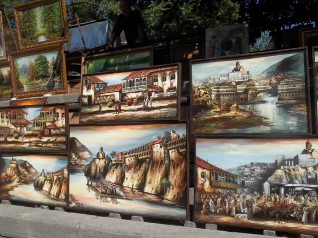 The Dry Bridge Art Market in Tbilisi