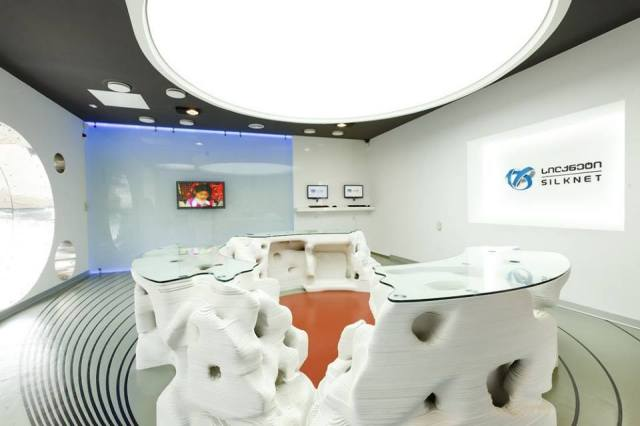 Interior of Silknet sales office in Tbilisi