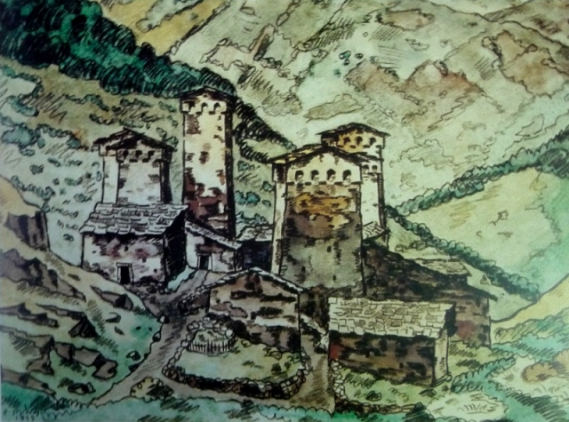 Svaneti by Davit Kakabadze. Painted in 1939.