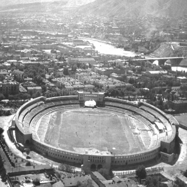 The Dinamo Stadium in Tbilisi