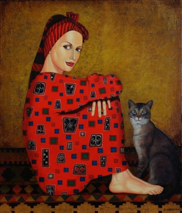Woman in Red by Zviad Gogolauri