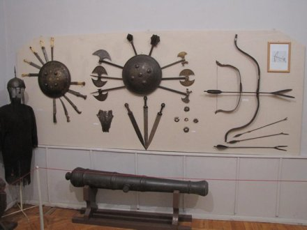 A display of weapons at the Kutaisi State Historical Museum