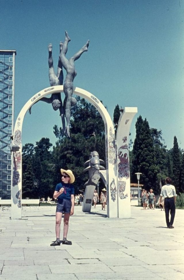 A young holidaymaker in Batumi in 1974