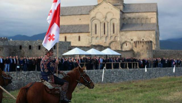 Celebrating Georgian Wine Day at Alaverdi Cathedral