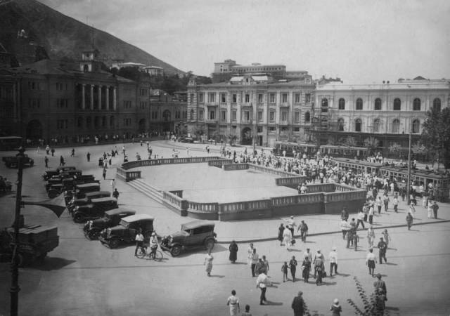 Beria Square in Tbilisi in 1941