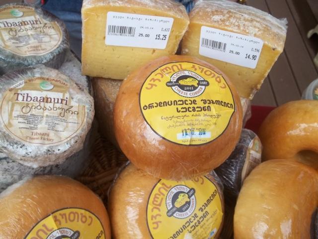 Georgian cheese at Tbilisoba.