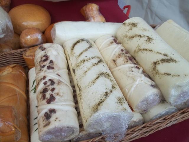 Georgian soft cheese at Tbilisoba.
