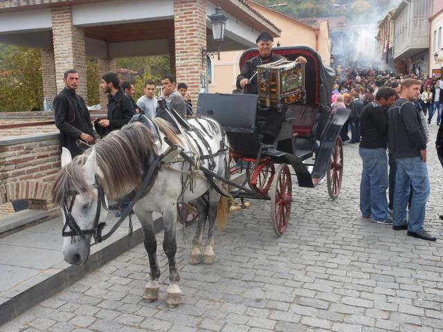 Horse and Carriage at the Signagi Wine Festival