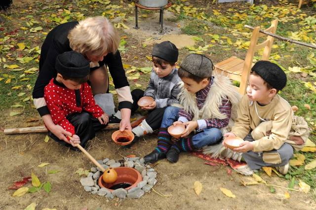 """Celebrating with """"wine"""" at the Kindergarten Autumn Festival in Tbilisi"""