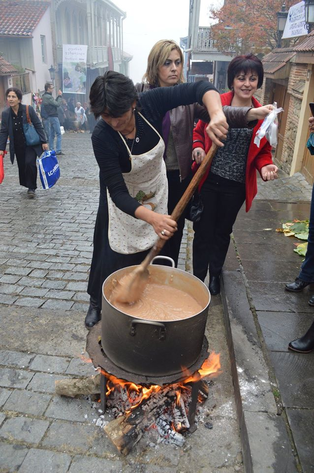 Making Churchkhela