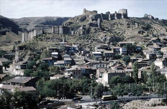 Narikala Castle and the Old Town District of Tbilisi in 1958