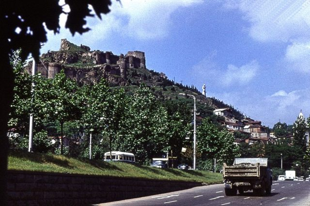 Narikala Castle in Tbilisi in 1974