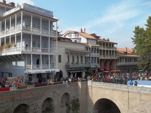 The Old Town district of Tbilisi during Tbilisoba 2014
