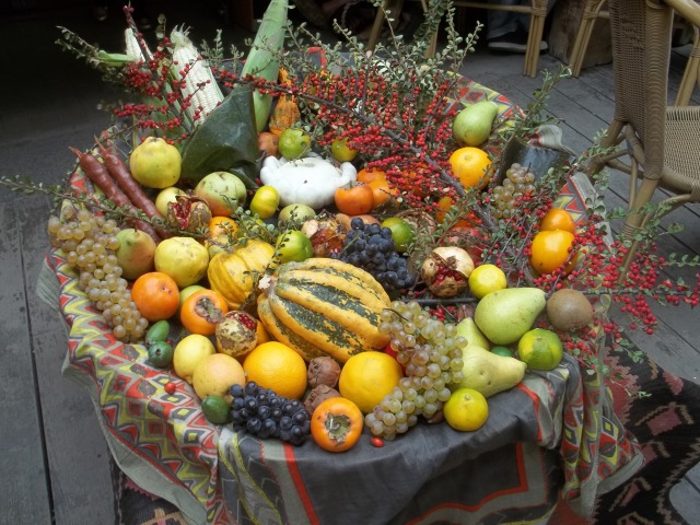 Autumn fruits and vegetables at Tbilisoba 2014