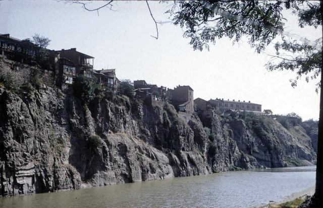 The Mtkvari River in Tbilisi in 1958
