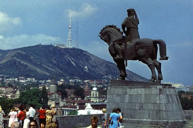 Tourists visiting Tbilisi in 1974