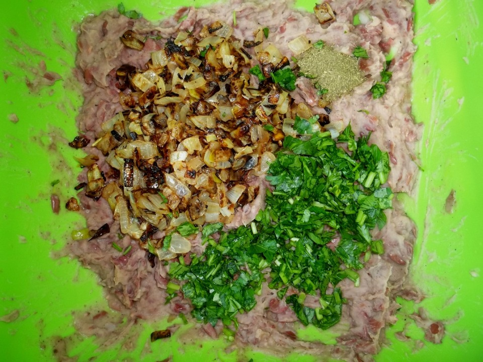 Adding Fried Onions and Parsley