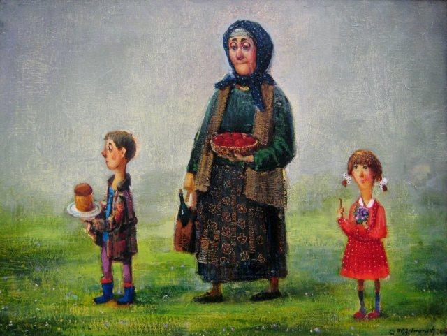 An Easter painting by Georgian artist Lado Tevdoradze