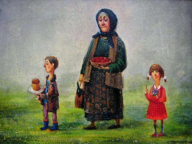 An Easter painting by Georgian artist Lado Tevdoradze