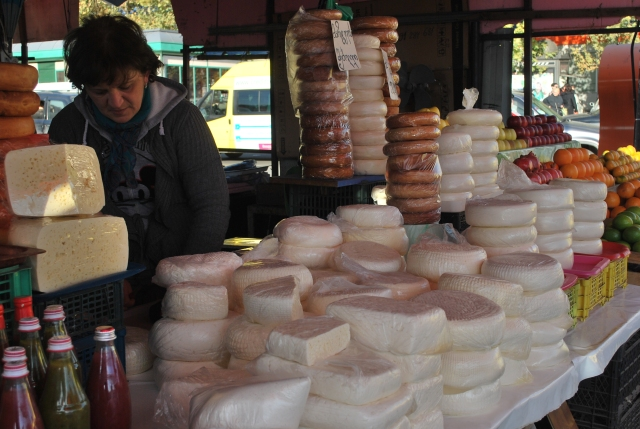 Cheese stall at the Dezerter Bazaar