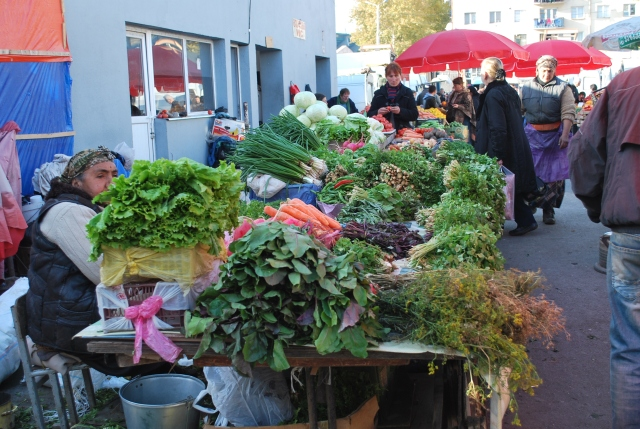 Vegetable stalls at the Dezerter Bazaar.